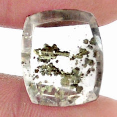 Natural 12.35cts marcasite in quartz white 16x13.5 mm loose gemstone s13098