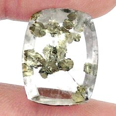 Natural 16.30cts marcasite in quartz white 20x15mm octagan loose gemstone s13091