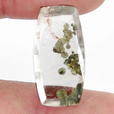 Natural 13.40cts marcasite in quartz white 22.5x11 mm loose gemstone s13093
