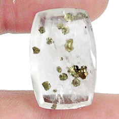 Natural 17.40cts marcasite in quartz white 22x15mm octagan loose gemstone s13096