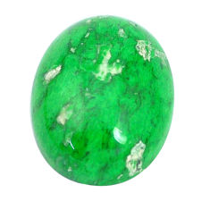 Natural 17.40cts maw sit sit green cabochon 20x15 mm oval loose gemstone s10381
