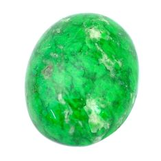 Natural 17.40cts maw sit sit green cabochon 20x15 mm oval loose gemstone s10383