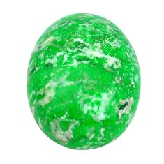 Natural 15.10cts maw sit sit green cabochon 20x15 mm oval loose gemstone s10384