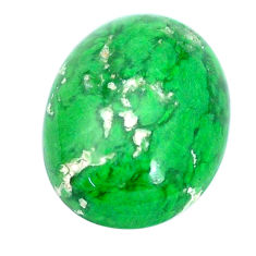 Natural 15.10cts maw sit sit green cabochon 20x15 mm oval loose gemstone s10385