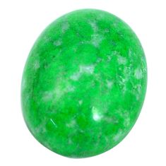 Natural 18.45cts maw sit sit green cabochon 20x15 mm oval loose gemstone s10386