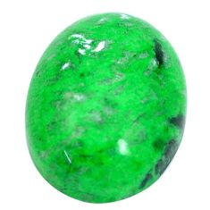 Natural 17.40cts maw sit sit green cabochon 20x15 mm oval loose gemstone s10387