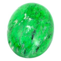 Natural 18.40cts maw sit sit green cabochon 20x15 mm oval loose gemstone s10389