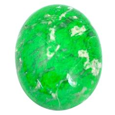 Natural 15.10cts maw sit sit green cabochon 20x15 mm oval loose gemstone s10394