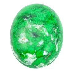 Natural 17.35cts maw sit sit green cabochon 20x15 mm oval loose gemstone s10395