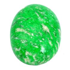 Natural 18.35cts maw sit sit green cabochon 20x15 mm oval loose gemstone s10397