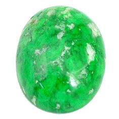 Natural 16.30cts maw sit sit green cabochon 20x15 mm oval loose gemstone s10398