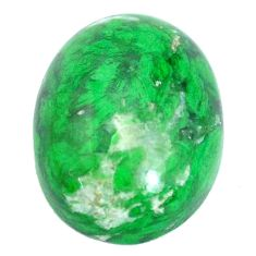 Natural 17.40cts maw sit sit green cabochon 20x15 mm oval loose gemstone s10400