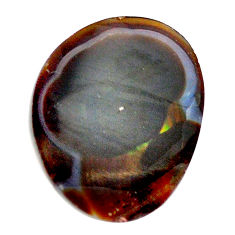 Natural 17.35cts mexican fire agate 18.5x15 mm fancy loose gemstone s13791