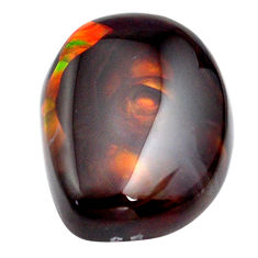 Natural 25.10cts mexican fire agate 23x17.5 mm fancy loose gemstone s13781