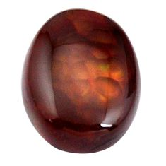 Natural 10.15cts mexican fire agate cabochon 17.5x13.5 mm loose gemstone s15062