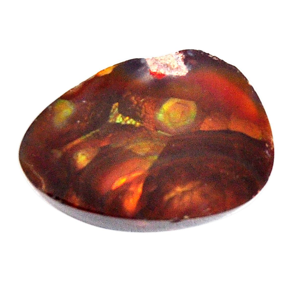 Fire Agate Stone Cabochon ~ 9.12 ct