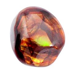 Natural 15.10cts mexican fire agate multi color 17.5x15 mm loose gemstone s9887