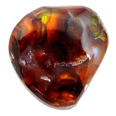 Natural 16.30cts mexican fire agate multi color 18x16 mm loose gemstone s13831