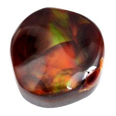 Natural 13.05cts mexican fire agate multicolor 16.5x15 mm loose gemstone s15070