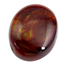 Natural 12.40cts mexican fire agate multicolor 17x13.5 mm loose gemstone s15072