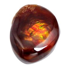 Natural 15.10cts mexican fire agate multicolor 18x14 mm loose gemstone s15066