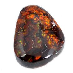 Natural 19.10cts mexican fire agate multicolor 21x16 mm loose gemstone s11660