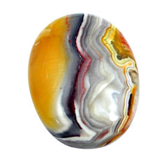 Natural 14.30cts mexican laguna lace agate 20x15 mm oval loose gemstone s11007