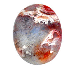 Natural 10.15cts mexican laguna lace agate 20x15 mm oval loose gemstone s11027