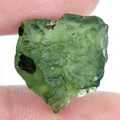 Natural 12.35cts moldavite green rough 15x15 mm fancy loose gemstone s10729