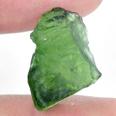 Natural 12.40cts moldavite green rough 20x12.5 mm fancy loose gemstone s10730