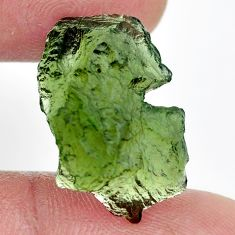 Natural 12.40cts moldavite green rough 22x14 mm fancy loose gemstone s13666