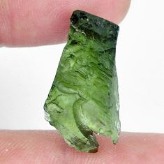 Natural 11.30cts moldavite green rough 24x12.5 mm fancy loose gemstone s10761