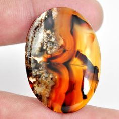 Natural 31.15cts montana agate brown cabochon 36x25 mm loose gemstone s11087