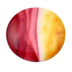 Natural 28.45cts mookaite brown cabochon 28x28 mm oval loose gemstone s14978