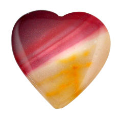 Natural 38.45cts mookaite brown cabochon 33.5x32.5mm heart loose gemstone s14945