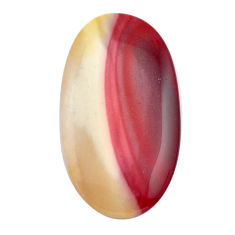 Natural 54.45cts mookaite brown cabochon 49x26.5 mm oval loose gemstone s14941