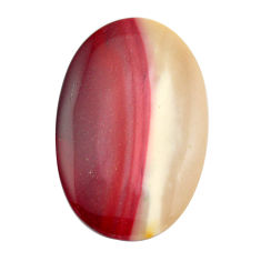Natural 55.10cts mookaite brown cabochon 49x31.5 mm oval loose gemstone s14942