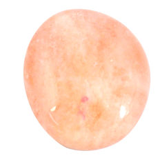 Natural 37.40cts morganite orange cabochon 26x22 mm fancy loose gemstone s11687