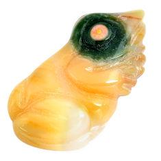 Natural 11.25cts ocean sea jasper carving 26x13.5 mm frog loose gemstone s13343