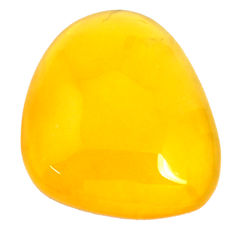 Natural 21.30cts opal yellow cabochon 26.5x22 mm fancy loose gemstone s9907