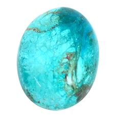 Natural 8.15cts opaline green cabochon 18x13 mm oval loose gemstone s10423