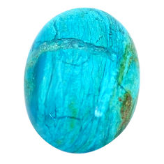 Natural 10.10cts opaline green cabochon 18x13 mm oval loose gemstone s10429