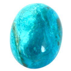 Natural 10.10cts opaline green cabochon 18x13 mm oval loose gemstone s10439