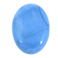 Natural 21.15cts owyhee opal blue cabochon 27x20 mm oval loose gemstone s11270