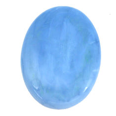 Natural 31.45cts owyhee opal blue cabochon 35.5x26 mm oval loose gemstone s11275