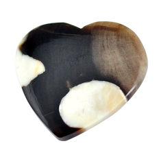 Natural 16.30cts peanut petrified wood fossil 22.5x23.5 mm loose gemstone s11056