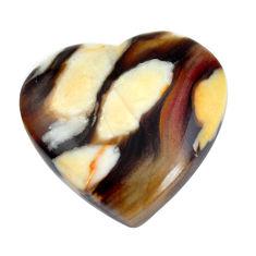 Natural 22.35cts peanut petrified wood fossil 22x22.5 mm loose gemstone s11072