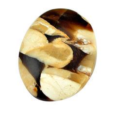 Natural 17.35cts peanut petrified wood fossil 26x20 mm loose gemstone s11080