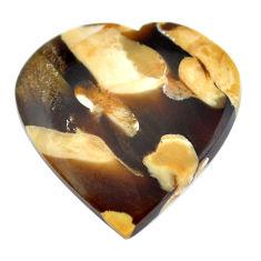 Natural 19.45cts peanut petrified wood fossil 26x25 mm loose gemstone s11073
