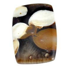 Natural 16.30cts peanut petrified wood fossil 27x18 mm loose gemstone s11042